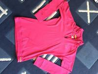Pink Under Armour cold gear top