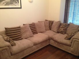 Left Hand Facing Pillow Back 2 Seater Corner Deluxe Sofa Bed £500 (ONO)
