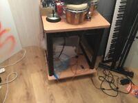 Studio rack on weels and desktop