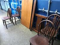 Oak table and 4 chairs with FREE DELIVERY PLYMOUTH AREA
