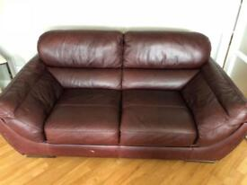 Brown Leather 2 Seater For Sale