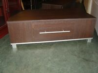 Pair of Matching Media Unit or Hi Fi Cabinets Cupboards. Dark Wood Finish. Great Condition