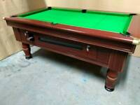 6x3 coin operated slate bed pub pool table. New recover & free local delivery