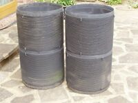 Universal chamber manhole risers 450mm diam. x 400mm high. 4 available.
