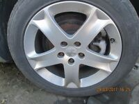 Peugeot 407 5 Stud Alloys with tyres.