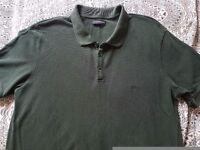 Armani destressed polo shirt