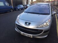PEUGEOT 207 5 DOORS AUTOMATIC WITH PANORAMIC ROOF, FULL LEATHER INTERIOR IN EXCELLENT CONDITION