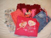Girls 6 - 8 Years Clothes Bundle Next M&S Disney Trousers Leggings Jeans Dress