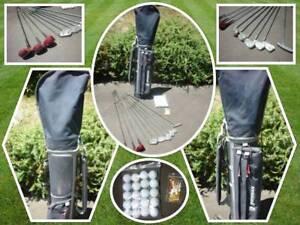 Ladies RH Golf Club Set. Bag, 9 Clubs, 20 Balls and 20 Tees