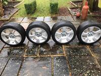 BMW 17inch Alloys with BRAND NEW Bridgestone Potenza Tyres