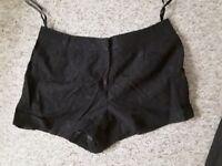 New debenhams lace black shorts