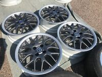 "BBS RS764 (RX2) 16""x6 1/2 2-piece split rim alloy wheels-freshly refurbished"