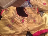 Gold saree for sale