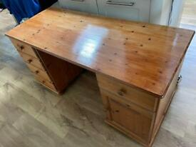 Solid wood desk with cupboard +drawers