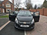 Chevrolet Spark 2013 black 1.2 petrol 5 doors Hatchback