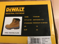 DeWalt Titanium Steel Boots - Honey Colour - Size 10