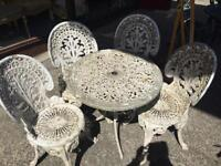Garden Table & 4x Chairs