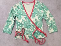 Marilyn Moore women's cashmere & silk ballet style cardigan, size small