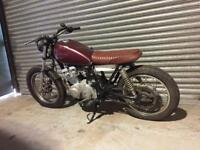 Suzuki gs250 cafe racer / flat tracker project
