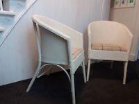 Pair of Restored Blind Craft Vintage Chairs Lloyd Loom style