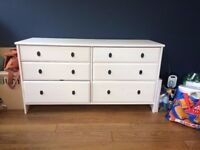 Double IKEA Hemnes chest of drawers