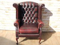 Chesterfield Thomas Lloyd armchair wing chair Leather (Delivery)