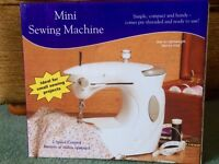 Mini Sewing Machine - 2 speed control, battery or mains operated.