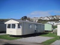 For sale cheap static caravan holiday home- sited, Devon, surfing beach. Includes 2017 site fees!