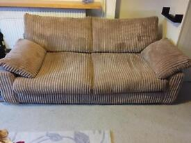 3 seater and pouffe