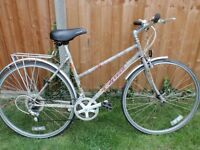 LADIES CARRERA GEMINI CLASSIC 14 SPEED HYBRID/TOWN BIKE WITH REAR CARRIER REYNOLDS 501/531