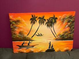 Beautiful large wall canvas from South Africa