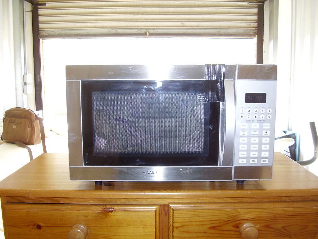 Hinari Microwave Oven With Convection And Grill Stainless Steel
