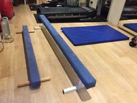 2 off Gymnastic Beams as new
