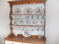 Pine Kitchen Dresser with painted fronts