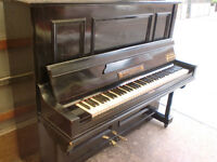 BLACK BLEICHRODER PIANO OVER STRUNG £120 CAN DELIVER