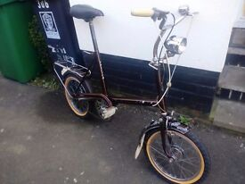 Vintage 60s Raleigh RSW MKII shopper bike in working condition