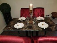 RESTAURANT CAFE TABLE 130cm x 70cm Quartz table brand new