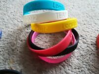 Collection Of 24 Rubber Wristbands Including Olympics, Brand Names & Help For Heroes