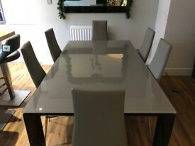 Callgaris Glass Dining Table & Chairs