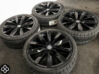 "GENUINE 19"" VOLKSWAGON ALLOY WHEELS & BRAND NEW TYRES - 235/35/19 - (AUDI) 5 x 112"