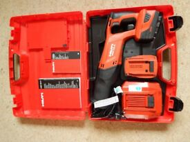 Hilti WSR-22A recip saw with 2 x 5.2ah batteries + charger. 2017 model, like new