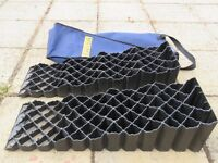 Used Quattro four step Motorhome Levelling Ramps.