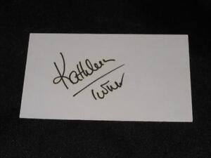 Body-Heat-Actress-Kathleen-Turner-Signed-Autograph-Vintage-3x5-Index-Card-EC13