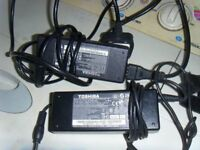 2 X TOSHIBA LAPTOP CHARGERS