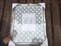 Beautiful large silver frame new in packaging