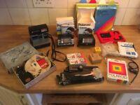 Polaroid Camera and extras
