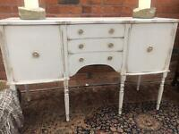French Painted Mahogany Sideboard with Drawers - UK Delivery