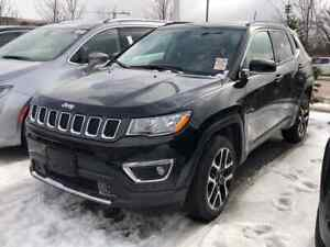 2018 Jeep Compass Limited 4X4, Pano Roof, Navi, 19,900 KMS