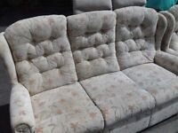 3 Seater Comfy Sofa with 2 Armchairs Great Condition FREE delivery