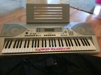 Casio Keyboard + Paded case + stand